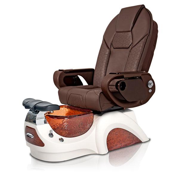 Noemi-AMBER Pedicure Chair   Throne Massage Chair   Chocolate Pad-Set