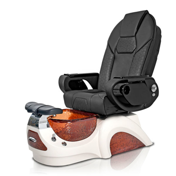 Noemi-AMBER Pedicure Chair   Throne Massage Chair   Black Pad-Set