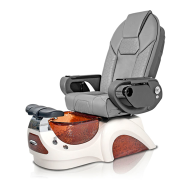 Noemi-AMBER Pedicure Chair   Throne Massage Chair   Grey Pad-Set