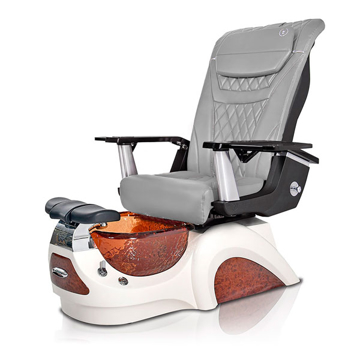 Noemi-AMBER Pedicure Chair   T-Timeless Massage Chair   Grey Pad-Set