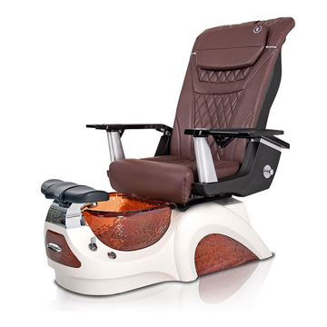 Noemi-AMBER Pedicure Chair   T-Timeless Massage Chair   Chocolate Pad-Set