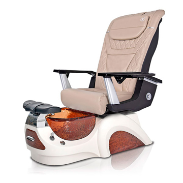 Noemi-AMBER Pedicure Chair   T-Timeless Massage Chair   Khaki Pad-Set