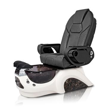 Noemi-BLACK Pedicure Chair | Throne Massage Chair | Black Pad-Set