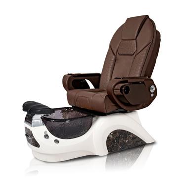 Noemi-BLACK Pedicure Chair | Throne Massage Chair | Chocolate Pad-Set