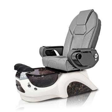 Noemi-BLACK Pedicure Chair | Throne Massage Chair | Grey Pad-Set