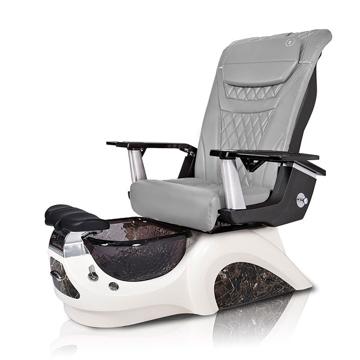 Noemi-BLACK Pedicure Chair | T-Timeless Massage Chair | Grey Pad-Set