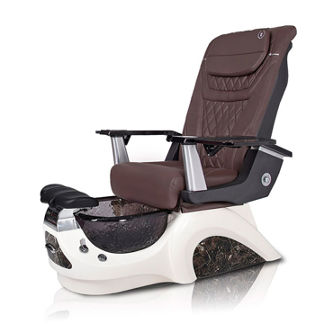 Noemi-BLACK Pedicure Chair | T-Timeless Massage Chair | Chocolate Pad-Set