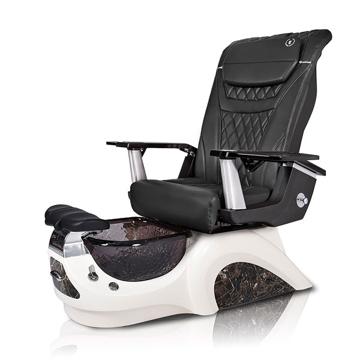 Noemi-BLACK Pedicure Chair | T-Timeless Massage Chair | Black Pad-Set