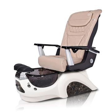 Noemi-BLACK Pedicure Chair | T-Timeless Massage Chair | Khaki Pad-Set